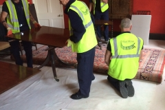 exton house. rolling up 20ft x 10 ft persian rug
